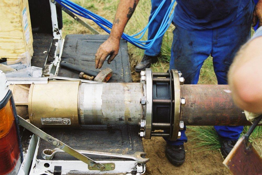 Borehole drilling White River